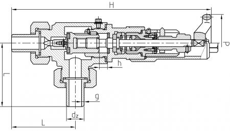Flow regulating valve ZRKs - scheme
