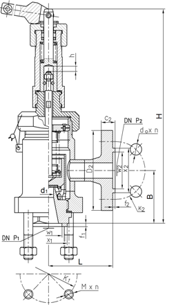 Safety valve ZBKP/10, 15 - scheme